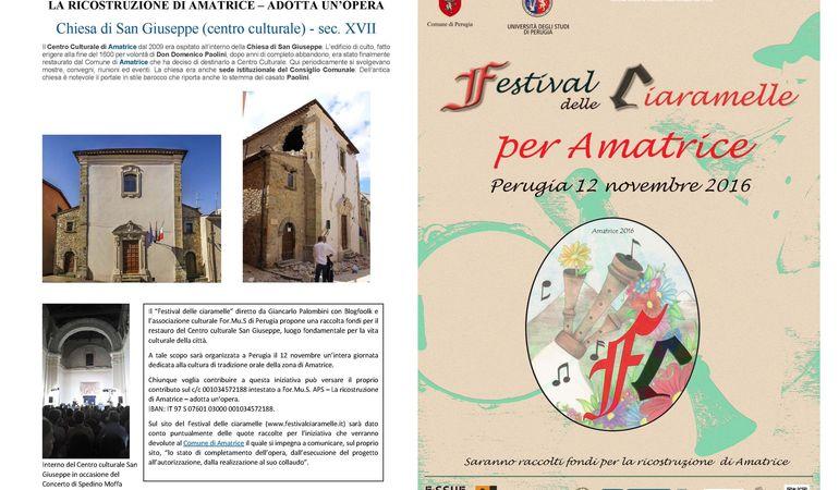 Festival delle Ciaramelle per Amatrice