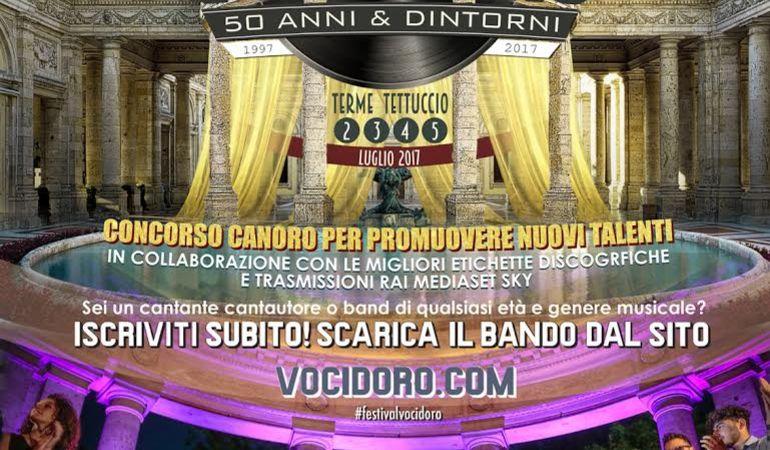 """Aperte le iscrizioni per la 20a edizione del FESTIVAL VOCI D'ORO """"50 anni & D'intorni"""""""