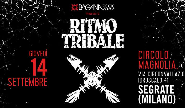 Il ritorno dal vivo dei Ritmo Tibale, il 14 settembre al Circolo Magnolia
