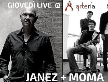 GIOVEDÌ 21 DICEMBRE JANEZ E I MOMA SUL PALCO DELL'ARTERĺA PER UN'ALTRA GRANDE SERATA TARGATA AREASONICA RECORDS!