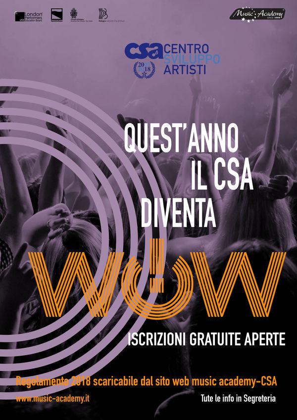 IL CENTRO SVILUPPO ARTISTI DI MUSIC ACADEMY DA QUEST'ANNO DIVENTA WOW!