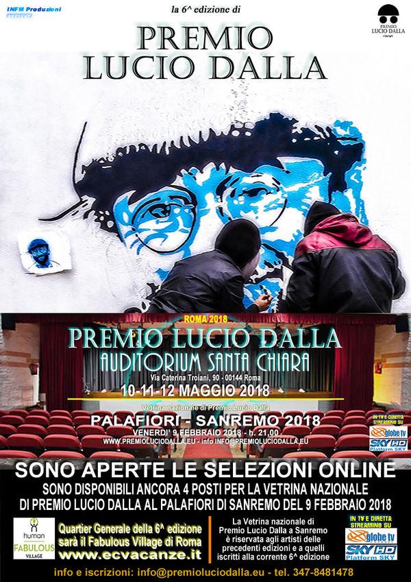 PREMIO LUCIO DALLA - SANREMO - Vetrina nazionale della 6^ edizione