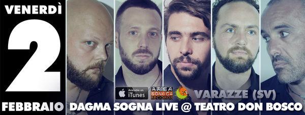 """Showcase nella serata del 2 febbraio per i Dagma Sogna: la band savonese presenta il nuovo album """"Tratti Di Matita"""" al CineTeatro Don Bosco di Varazze"""