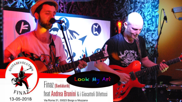Andrea Brunini feat Finaz live al Look My Art