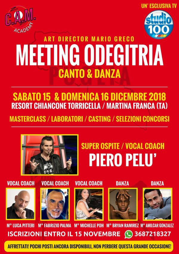 PIERO PELU' AL MEETING ODEGITRIA