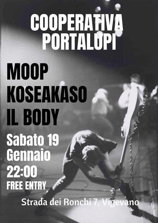 Coope LIVE - Moop, Koseakaso,Il Body