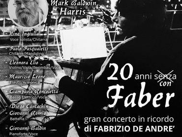 20 Anni senza Faber, i Mercantinfiera e Mark Baldwin Harris a Corte Franca (Bs)