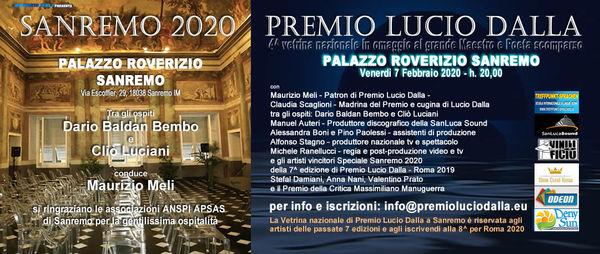 SANREMO 2020 - PREMIO LUCIO DALLA - 4^ Vetrina nazionale
