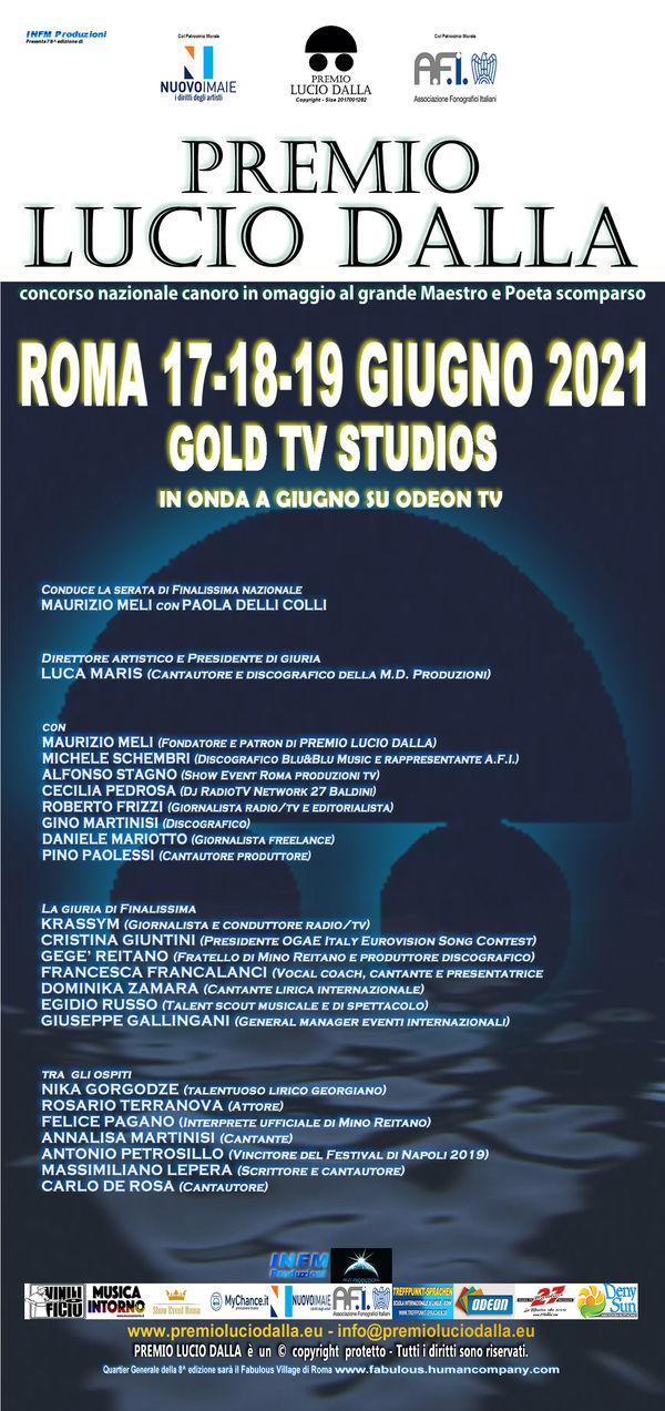 PREMIO LUCIO DALLA - 8^ edizione - Roma 17-18-19 Giugno 2021